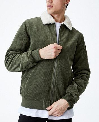 Мужская куртка-бомбер с воротником из искусственной шерпы COTTON ON