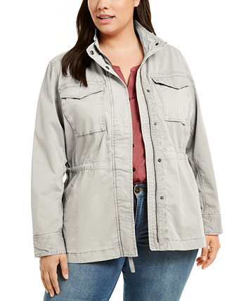 Хлопковая куртка большого размера, созданная для Macy's Style & Co