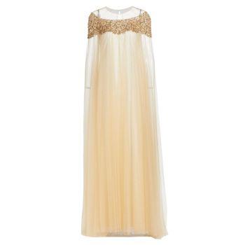 Платье Angelina с декольте из бисера Jenny Packham