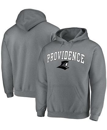 Мужской темно-серый пуловер с капюшоном Providence Friars Campus Fanatics