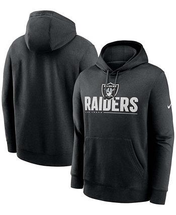 Черный мужской пуловер с капюшоном для больших и высоких команд Las Vegas Raiders Team Impact Club Nike