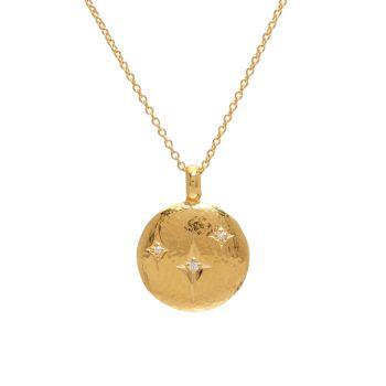 Spell Желтое золото 22 карат, желтое золото 18 карат & amp; Ожерелье с подвеской Diamond Starlight Gurhan