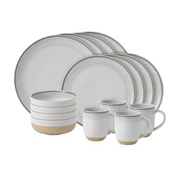 Создано Royal Doulton Brushed Glaze Набор столовой посуды из 16 предметов. ED Ellen DeGeneres
