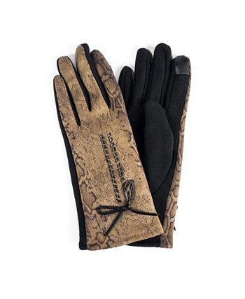 Женские перчатки из джерси с леопардовым принтом и сенсорным экраном Marcus Adler