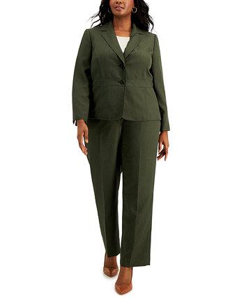 Plus Size Two-Button Pinstripe Pantsuit Le Suit