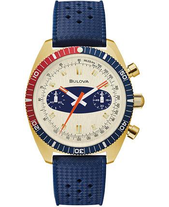 Мужские часы Archive Surfboard с синим силиконовым ремешком 40,5 мм Bulova