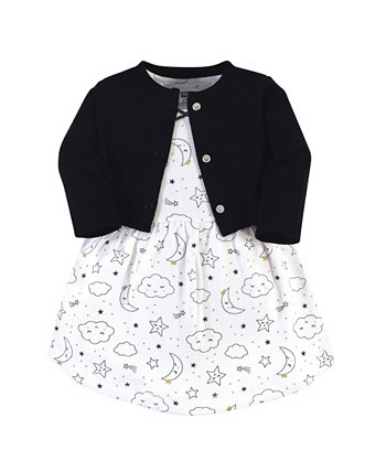 Платье и кардиган для маленьких девочек Hudson Baby