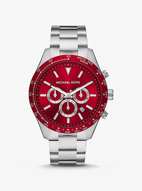 Крупногабаритные часы Layton в серебристом цвете Michael Kors
