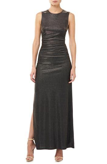 Коктейльное платье с металлическими сборками Halson Heritage Halston Heritage