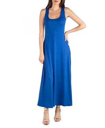 Платье макси без рукавов Slim Fit A-Line 24seven Comfort Apparel