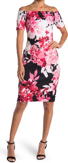 Платье-футляр с открытыми плечами Calvin Klein Modern American Designer