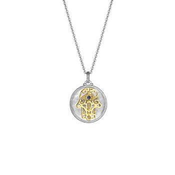 Little Luxuries Hamsa из стерлингового серебра, желтого золота 18 карат, синего сапфира & amp; Ожерелье с бриллиантовым медальоном Judith Ripka