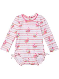 Купальник рашгарда с цветочным рисунком фламинго (для младенцев) Hatley Kids