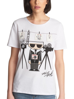 Футболка Photographer Karl Graphic Karl Lagerfeld Paris