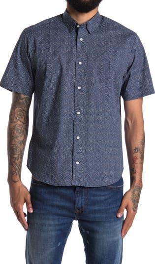 Рубашка из эластичного тканого материала с короткими рукавами Thomas Dean