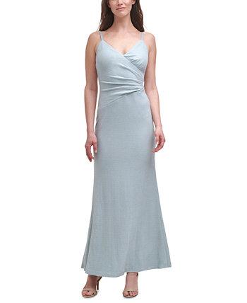 Вязаное платье-русалка с металлизированным рисунком Eliza J