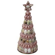 St. Nicholas Square® Iridescent Shell Coastal Christmas Tree Table Decor St. Nicholas Square