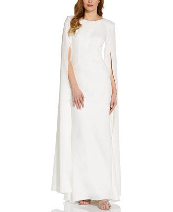 Платье из крепа с разрезом на рукавах Adrianna Papell