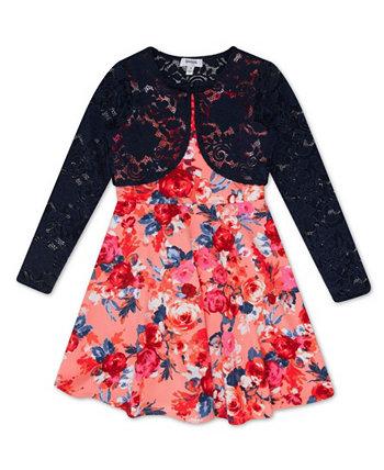 Бархатное платье с цветочным принтом на лифе Big Girl Speechless