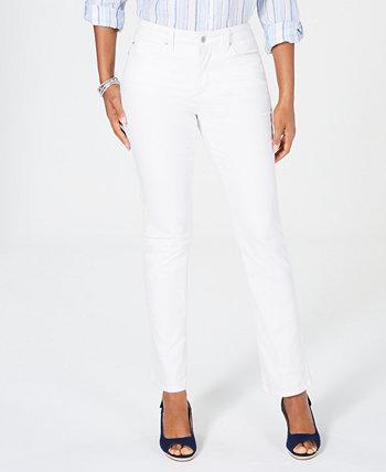 Прямые джинсы Petite Lexington, созданные для Macy's Charter Club