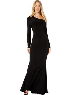 Платье с длинным рукавом в форме рыбьего хвоста Norma Kamali