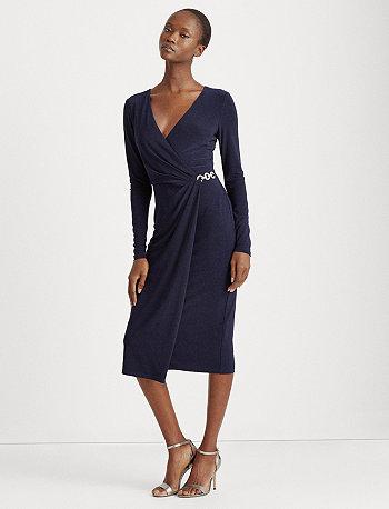 Платье Surplice из матового джерси Ralph Lauren