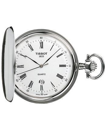 Унисекс швейцарские карманные часы из нержавеющей стали Savonnette 49 мм T83655313 Tissot