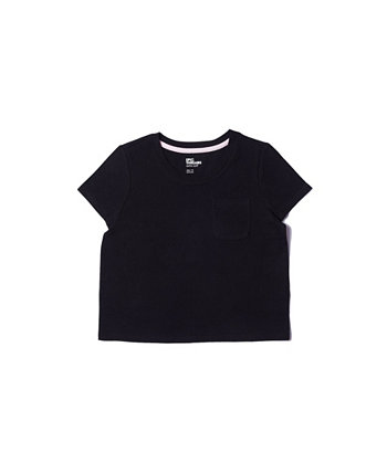 Однотонная футболка с короткими рукавами и короткими рукавами для больших девочек Epic Threads