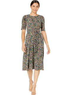 Galaxy Dot Center Front Tie Waist Fit-and-Flare London Times