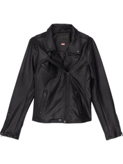 Vegan Leather Moto Jacket (Big Kids) Blank NYC Kids