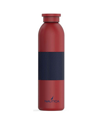Спортивная бутылка Rudder с двойными стенками, силиконовой втулкой и завинчивающейся крышкой, 20 унций Nautica