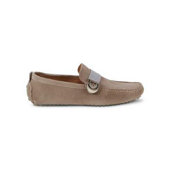 Vollo Suede Driver Shoes Donald J Pliner