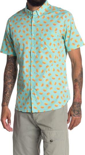 Оранжевая рубашка на танкетке стандартного кроя PUBLIC ART
