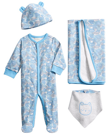 Baby Boys Bear Camo Gift Set, Created for Macy's First Impressions