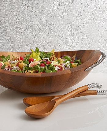 Тесьма салатница с серверами Nambe