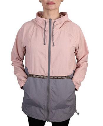 Женская легкая непромокаемая куртка с цветными блоками Mountain And Isles