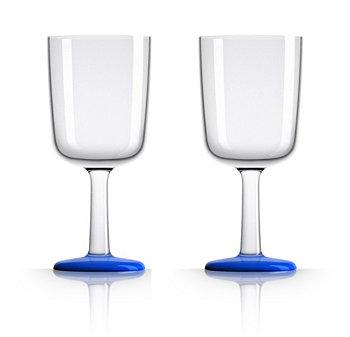 Palm Tritan Бокал для вина Forever-Unbreakable с нескользящей основой Klein Blue, набор из 2 шт. Marc Newson