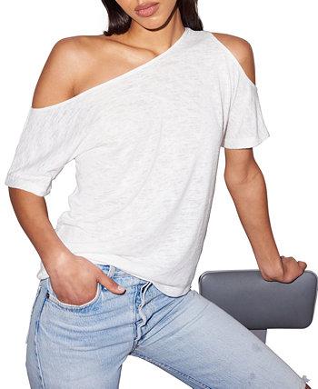 Natalia Asymmetric-Neck T-Shirt LNA
