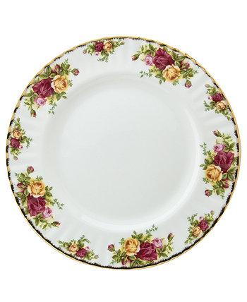 Обеденная тарелка 10,25 дюйма из старых деревенских роз Royal Albert