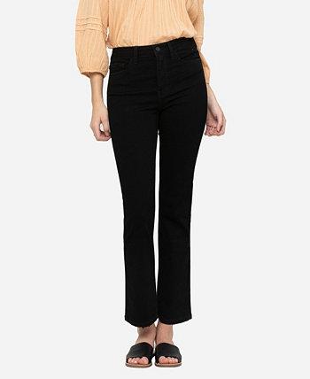 Женские прямые джинсы до щиколотки на скрытых пуговицах с высокой посадкой FLYING MONKEY