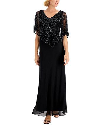 Платье с декоративной накладкой J Kara
