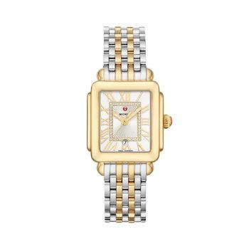 Часы Deco Madison Mid с двухцветным бриллиантовым циферблатом Michele