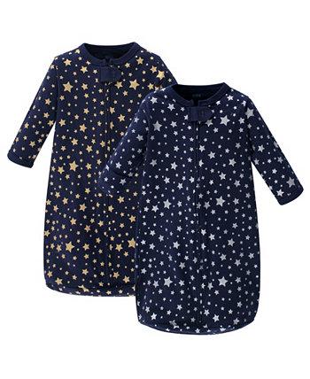 Спальный мешок для маленьких девочек с длинным рукавом, 2 шт. В упаковке Hudson Baby