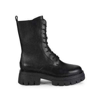 Кожаные армейские ботинки Liana ASH
