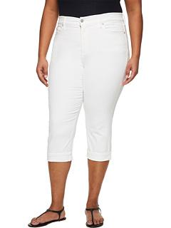 Укороченная манжета Marilyn большого размера в цвете Optic White NYDJ Plus Size