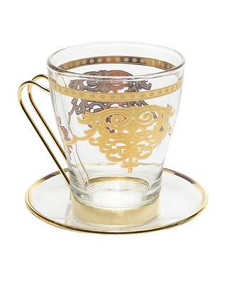 Набор из 6 чайных сервизов с богатым золотым дизайном Classic Touch