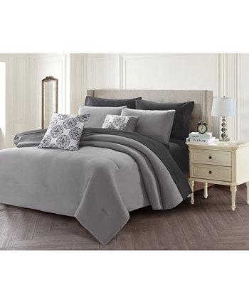 Сплошная кровать из 7 предметов в сумке, Твин Harper Lane