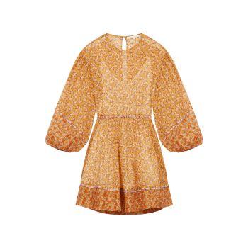 Мини-платье Risso с вырезом и цветочным принтом Maje