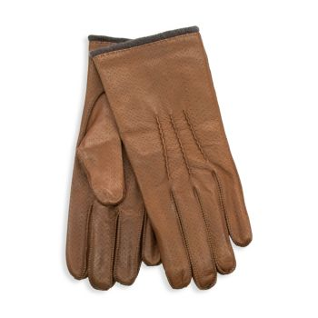 Перфорированные перчатки из кожи наппа Portolano