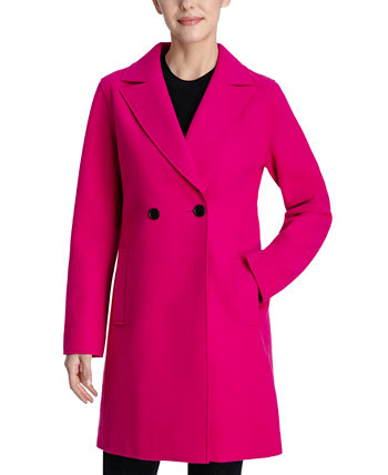 Raw-Edge Double-Breasted Walker Coat BCBGeneration